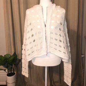 Free People Chunky Knit Hooded Sweater/Jacket
